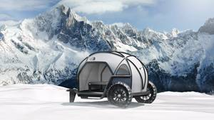 Die kleine Größe und das Gewicht würden es möglich machen, den Anhänger auch mit einem Zweirad zu ziehen.