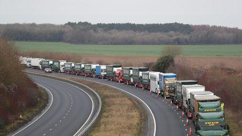 Lkw-Stau vor Dover