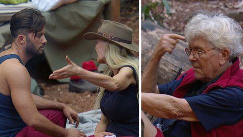 """Sibylle Rauch meckert bei Domenico (l.) über Alf-Stimme Tommi Piper. Der wiederum hält sie für """"dodelig""""."""