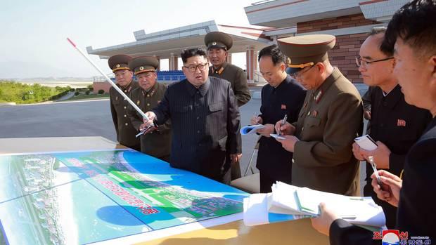 Im Jahr 2018 soll der nordkoreanische Führer Kim Jong Undie Baustelle mehrmals besucht haben