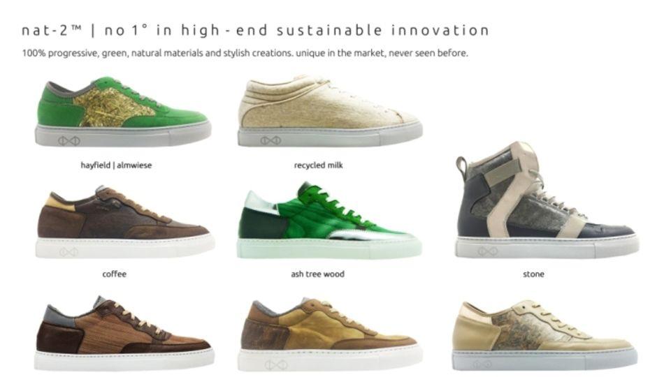 Schuhe aus recycelbarem Material von nat-2
