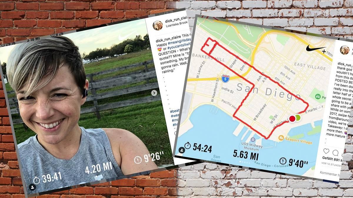 Sportliche Schniedel: Diese Frau macht Peniskunst mit einer Sport-App