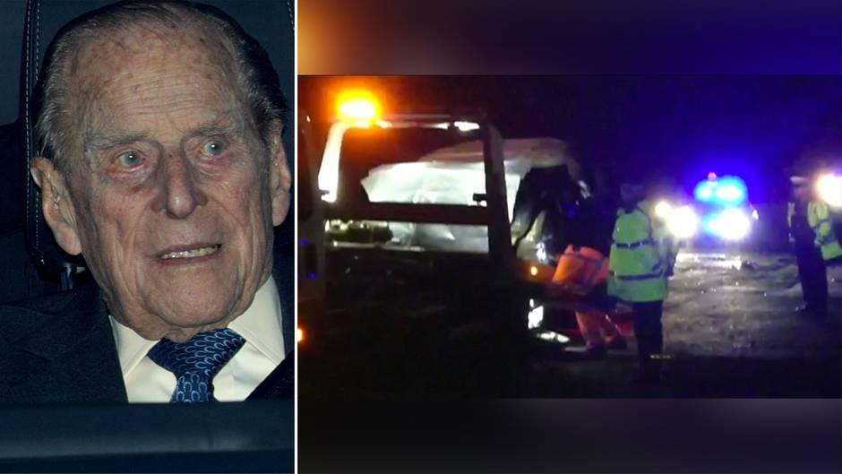Sandringham Prinz Philip in heftigen Autounfall verwickelt