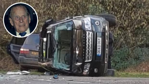 Prinz Philip war in der Nähe von Sandringham in einen Autounfall verwickelt