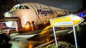 Logistische Meisterleistung: Per Schwertransport wird der Rumpf des Airbus A320 von Lübeck nach Calw geschleppt