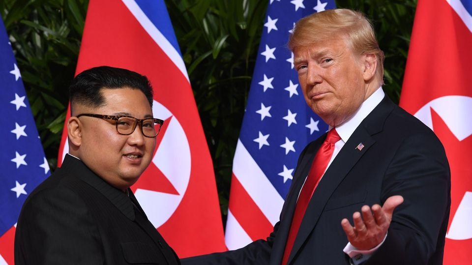 Donald Trump und Kim Jong Un - neuer Gipfel im Februar
