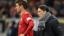 FC Bayern - Niko Kovac und Thomas Müller beim Bundesliga-Spiel in Hoffenheim