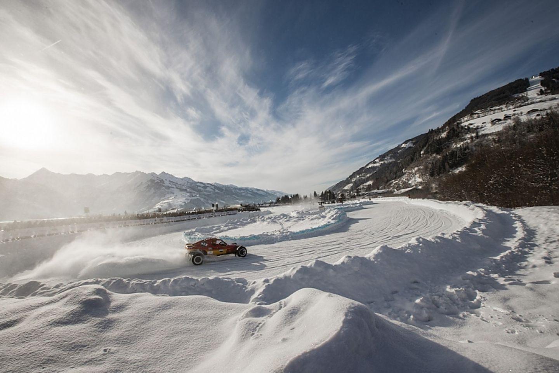 Das Rennen fand vor der pittoresken Alpenkulisse statt