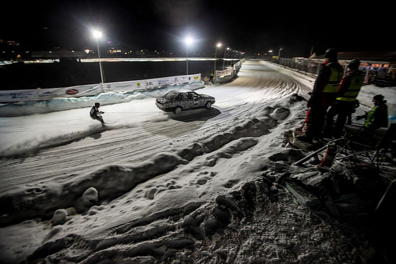 In der Dunkelheit gab es auch Skijöring