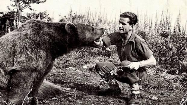 Schon bald war Wojtek größer als seine menschlichen Kameraden.