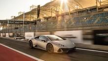 Lamborghini Huracan Evo - auf der Formel-1-Rennstrecke von Bahrain