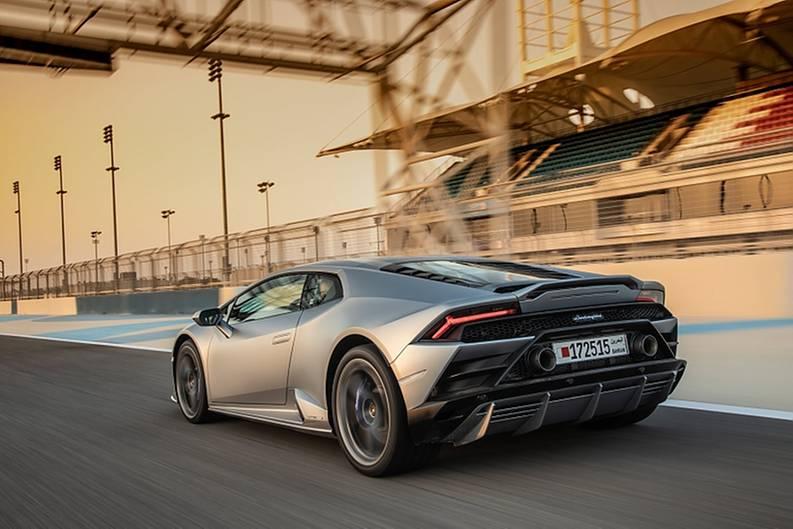 Lamborghini Huracan Evo - das Heck kann auch schwänzeln