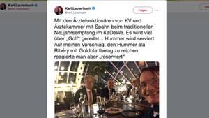 Tweet von Karl Lauterbach