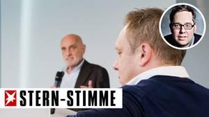 Hannover-Präsident Martin Kind und Trainer André Breitenreiter