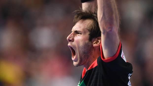 Uwe Gensheimer jubelt: Bei der Handball-Weltmeisterschaft hat Deutschland Kroatien geschlagen