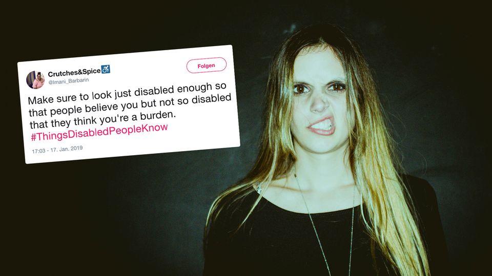 Auf Twitter teilen Menschen mit Behinderung ihre Erfahrungen