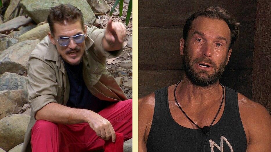 Die beiden Dschungelcamp-Kandidaten Chris Töpperwien und Bastian Yotta
