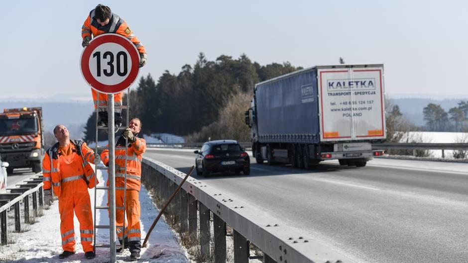 Tempolimit an Autobahn