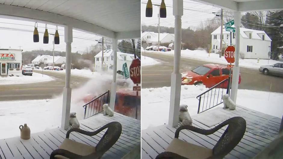Auto rutscht in Veranda: An dieser Hausecke kracht es immer wieder