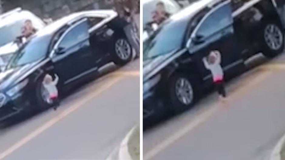 Bodycam-Aufnahmen: Verstörendes Video: Kleinkind stellt sich mit erhobenen Händen der Polizei