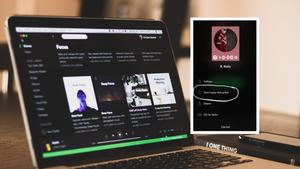 Spotify ist auf einem Laptop geöffnet