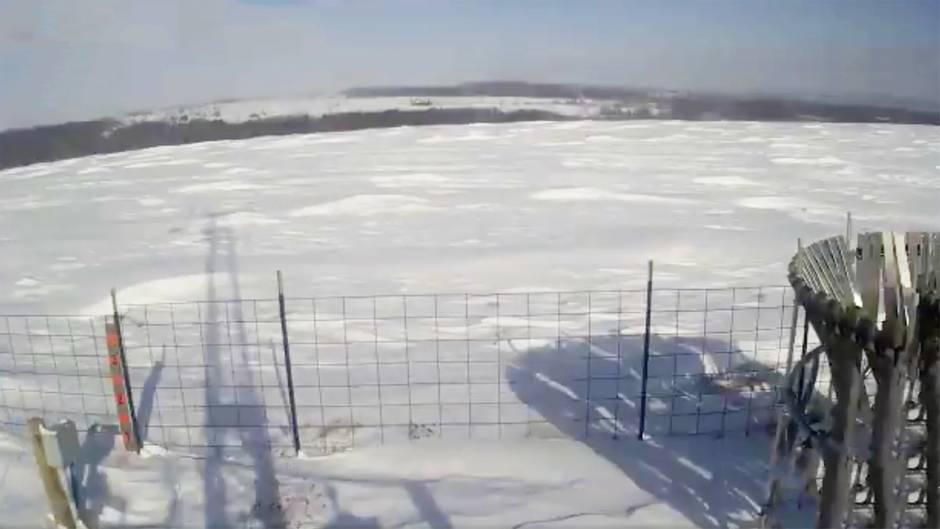 """New York: Kurioses Winterwetter-Phänomen: Hier kann man """"Wellen aus Schnee"""" bestaunen"""
