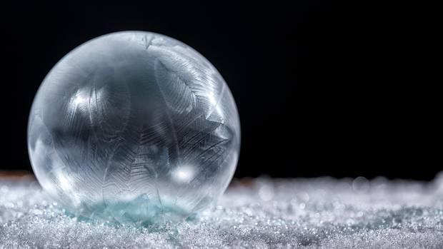 Gefrorene Seifenblasen