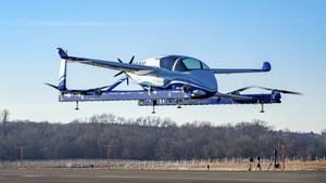 """Das von einer Boeing-Tochterfirma entwickelte """"Passenger Air Vehicle"""" (POV) beim Schwebeflug in Virginia"""