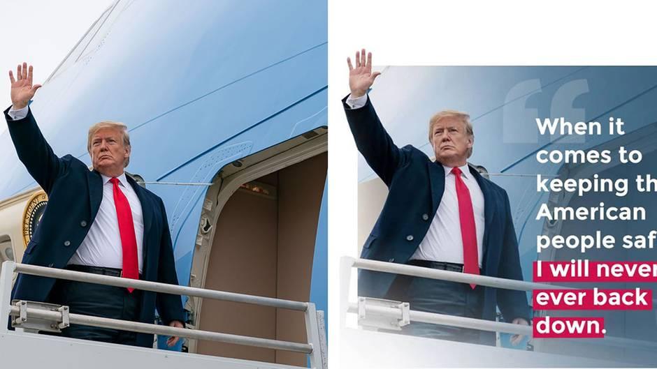 Eitle Seite des US-Präsidenten: Photoshop sei Dank: Wie sich Donald Trump gerne auf Facebook präsentiert