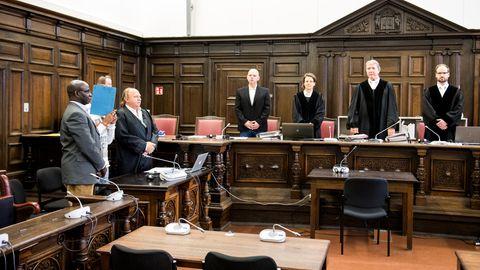Saal des Amtsgerichts Hamburg