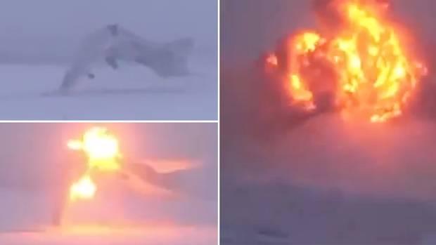 Murmansk: Video zeigt Bruchlandung einer russischen Tu-22M3
