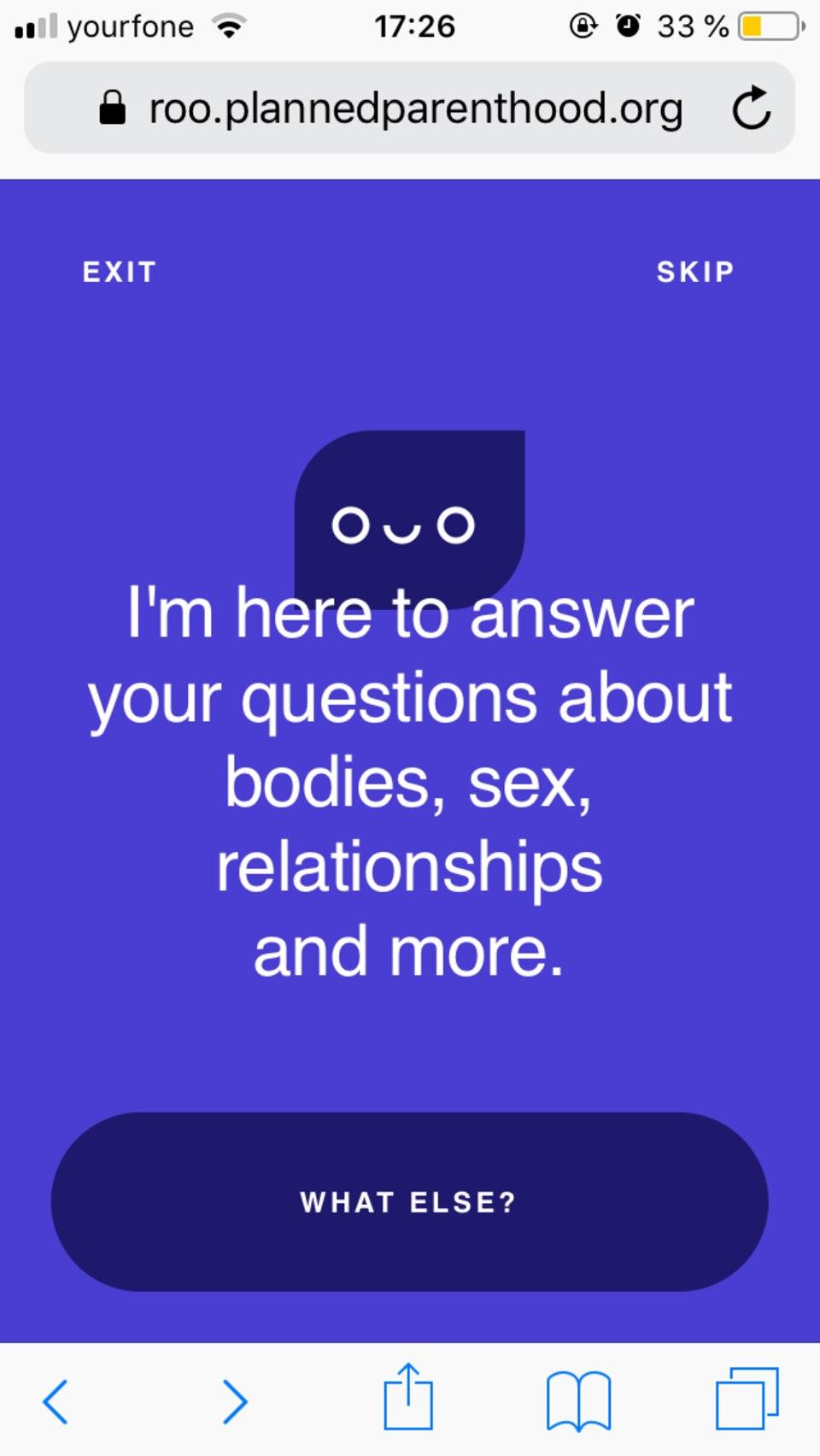 "Planned Parenthood: Chatbot ""Roo"" beantwortet Sexfragen"