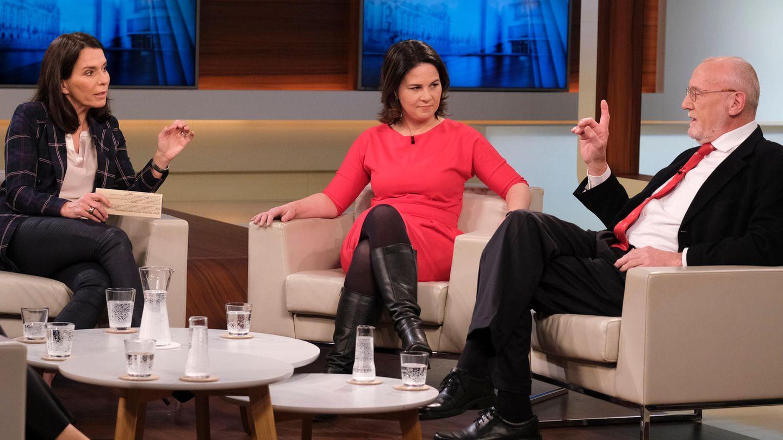 Anne Will mit Annalena Baerbock und Dieter Köhler
