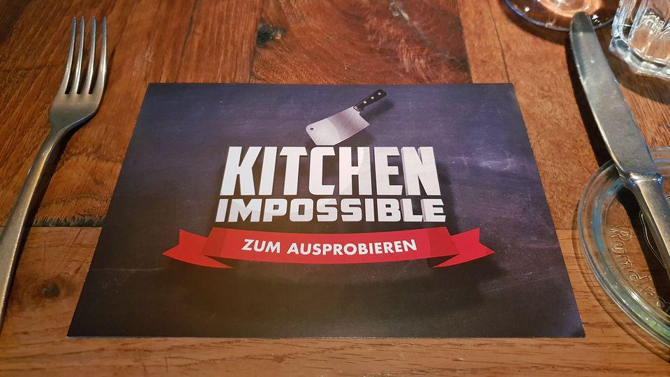 Kitchen Impossible zum Ausprobieren: Auf dieser Karte notiere ich die Zutaten, die ich herausschmecke