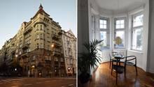 Das herrschaftliche Gebäude aus dem 19. Jahrhundert liegt in einem der Straßenzüge Warschaus, die von den Zerstörungen des Zweiten Weltkriegs weitgehend verschont wurden. Rechts dashelle Eckzimmer 1777 mit Erker.
