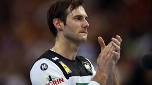 Enttäuschung bei Handball-Kapitän Uwe Gensheimer nach dem verlorenen Halbfinale gegen Norwegen.