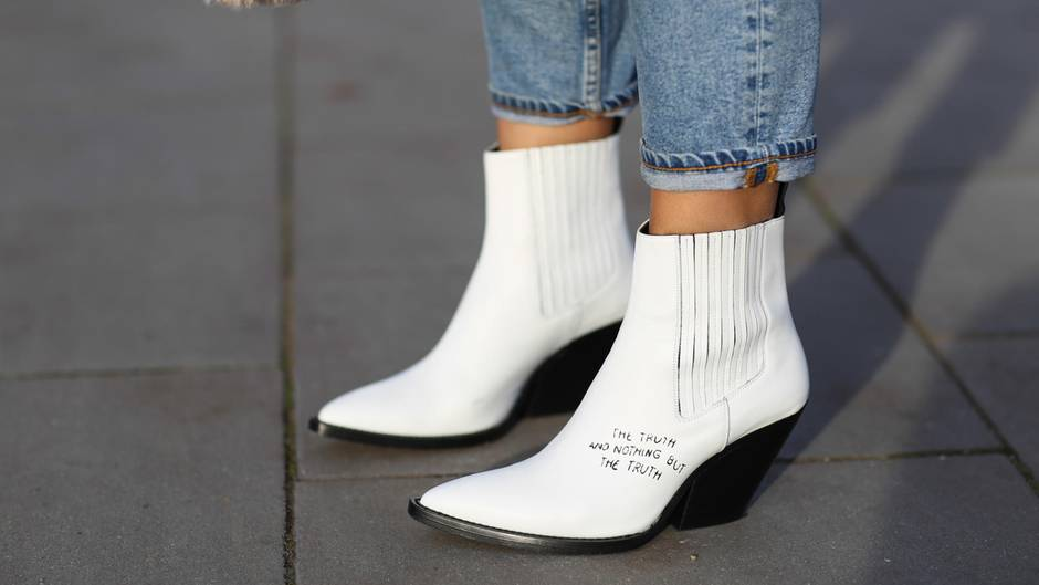 Trendschuhe 2018: Weiße Stiefel richtig kombinieren