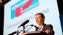 Bernd Lucke auf dem AfD-Gründungsparteitag 2013