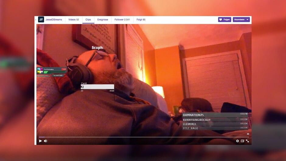 Twitch: Hunderte Menschen gucken zu, wie dieser Mann schläft