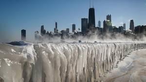 Die Kältewelle hat Chicago und den Lake Michigan im Griff
