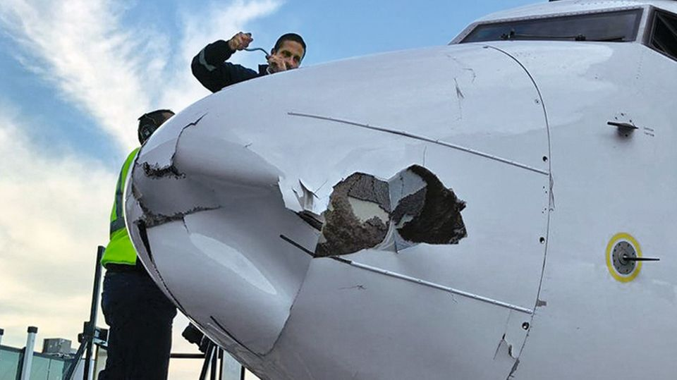 Crash: die Nase einer Boeing 737 der Aeromexico in Tijuana im Dezember 2018