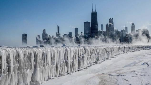 Minus 40 Grad: Chicago im Eis: Bilder erinnern an Weltuntergangsfilme