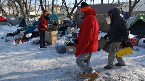 Kältewelle Chicago Obdachlose