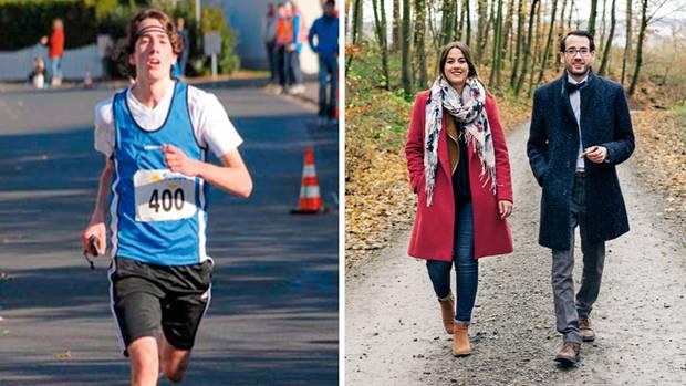 Dass er früher leidenschaftlich gern Marathon lief (l.), weiß Max Rinneberg nur aus Erzählungen anderer, etwa seiner Schwester Christina. Sie half ihm nach seinem Unglück zurück ins Leben. Dem Sport kann er heute nichts mehr abgewinnen.