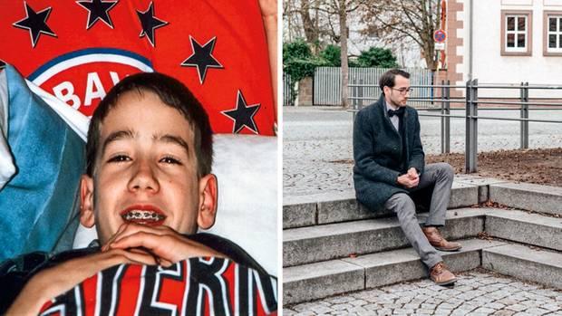 Der kleine Max war ein großer Fan des FC Bayern (l.). Vorbei. Auf den Stufen des Dorfplatzes von Kleinostheim geschah der Sturz, der alles veränderte.