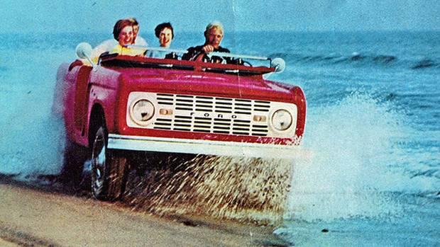 Ungebremstes Vergnügen verspricht die Reklame aus den 60ern.