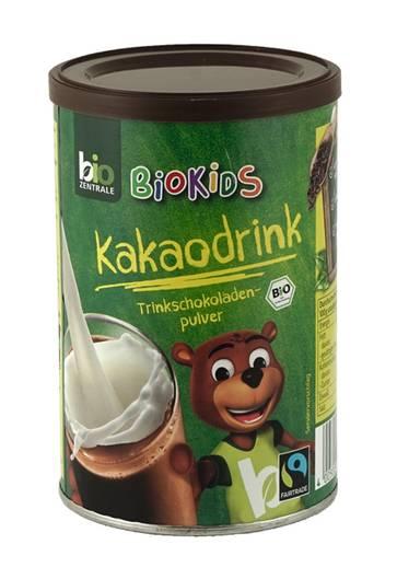 """Sehr gut: Bio-Zentrale Biokids Kakaodrink, Bio & Fairtrade  Dieses Kakaopulver erhält von Ökotest das Gesamturteil """"Sehr gut"""". Der Kakaoanteil liegt bei 33%, der Zuckergehalt sei in Ordnung. Kostenpunkt pro 500 Gramm: 5,82 Euro."""