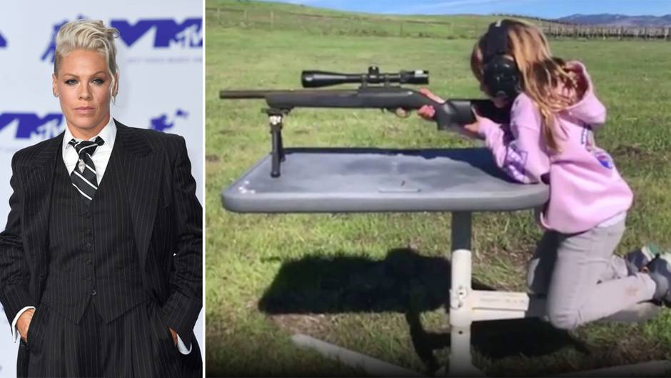 """Waffenrecht in den USA: """"Ist sie entsichert?"""" – Pinks siebenjährige Tochter feuert Gewehr ab"""