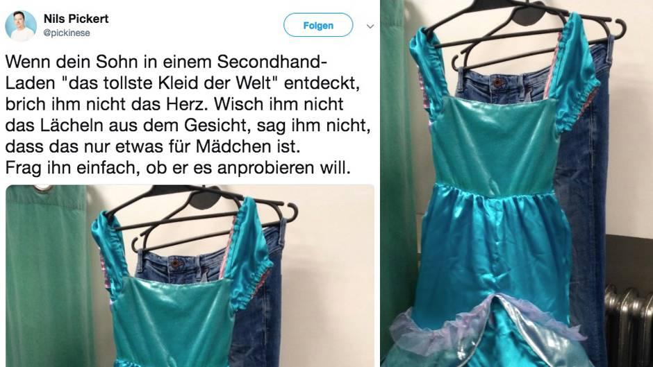 """Geschlechterklischees: Wenn dein Sohn das """"tollste Kleid der Welt"""" entdeckt –darum feiert Twitter diesen Vater"""