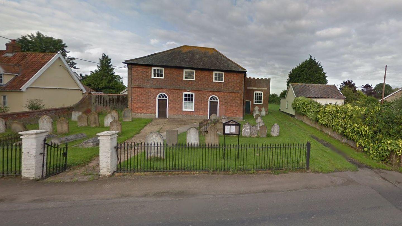 Das Haus in Norfolk hat einen etwas ungewöhnlichen Garten